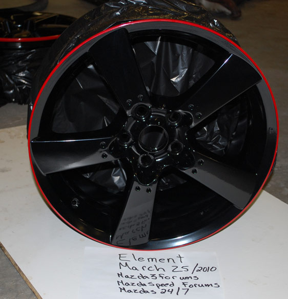 """For Sale 2008 Mazdaspeed 3 Wheels: Freshly Powdercoated """"Time Attack"""" Style RX-8 Rims..."""